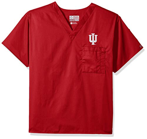 WonderWink Unisex-Adult's Indiana University V-Neck Top, Cardinal, MD