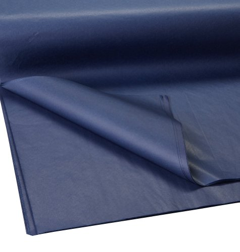 Jillson Roberts Bulk 20 x 30 Inches Recycled Tissue Available in 28 Colors, Navy, 480 Unfolded Sheets ()