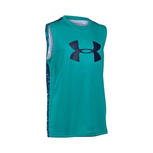 UPC 889362649306, Under Armour Boys' Tech Big Logo Novelty Sleeveless T-Shirt, Tahitian Teal (933), Youth Small