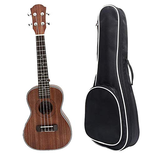 Ukulele Beginner Matte Finish Mahogany Wood 23 Inches Traditional Concert Ukulele Uke Hawaii Kids Small Guitar with Gig Bag for Kids Students Beginners Musical Instrument Gifts with Tote Bag