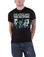 The Traveling Wilburys T Shirt Performing Band Logo new Mens Black Men