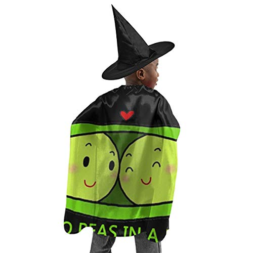 Zzxtfs Halloween Witch Set Two Peas in A Pod Fesitival Cape Girls Kids Child Witch Costume Halloween Cape with Hat for Most Child (100-160 cm)