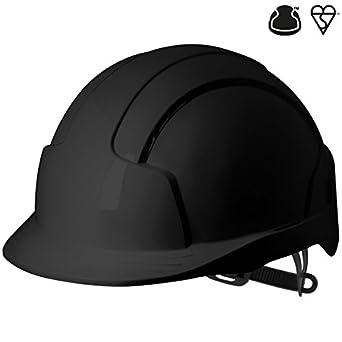 Casco JSP AJB160-001-100 EVOLite con ajuste tipo trinquete y ventilación, color negro: Amazon.es: Industria, empresas y ciencia