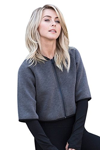 MPG Women's Julianne Hough Collection Calypso Cropped Jacket S Htr Concrete