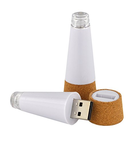 SAMYO 2 Packs Brightest Rechargeable Wine Cork LED Bottle Light USB Powered for Party , Christmas Day and Perfect for the Valentine Day , Wine Lover Review