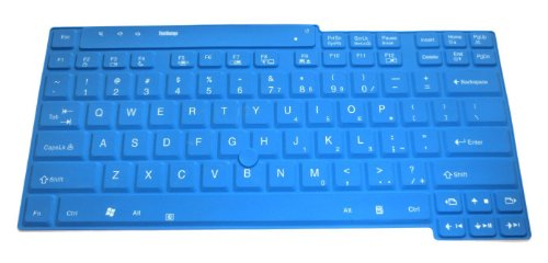 Blue Ultra Thin Silicone Keyboard Protector Skin Cover for IBM Lenovo ThinkPad R60, R61, T30, T42, T43, T60, T61, Z60, Z61, X200, X200s, X200T, X201, X201S, X201T, X201i, X300, X301, X400, T400, T500, R400, R500, W500 series Us layout