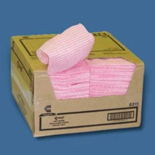 Chix 8311 Wet Wipes, 11 1/2 x 24, White/Pink, 200/Carton