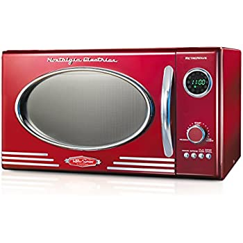 Nostalgia RMO400RED Retro 0.9 Cubic Foot Microwave Oven