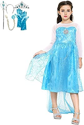 Katara 1099 Disfraz de Elsa Frozen con Set de Princesa - Niñas 4-5 ...