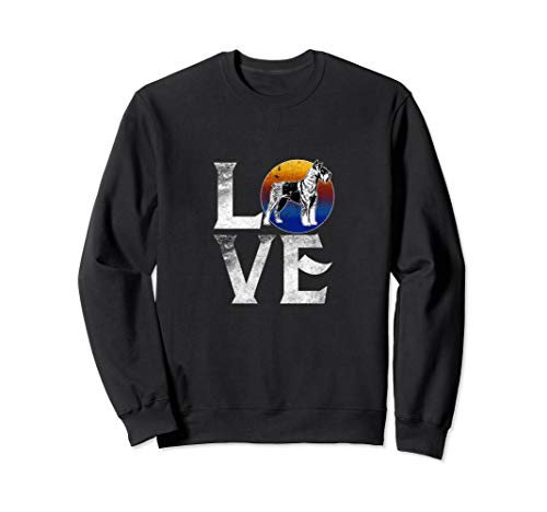(Love Schnauzer Dogs Sweatshirt Pet Owner Mom Dad Youth)