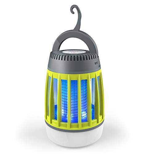 BATTOP Bug Zapper Outdoor, 3 in 1 Camping Lantern & Mosquito Killer & Power Bank - Waterproof Camping Gear Accessories - Rechargeable Mosquito Zapper Light