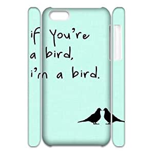 Bird Customized 3D Cover Case for Iphone 5C,custom phone case ygtg567708
