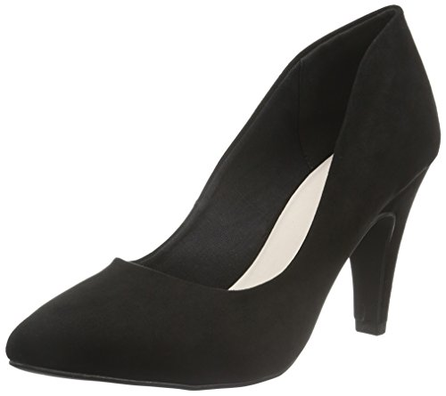 Bianco Damen High Collar Pump 24-48915 Pumps Schwarz (10/Black)