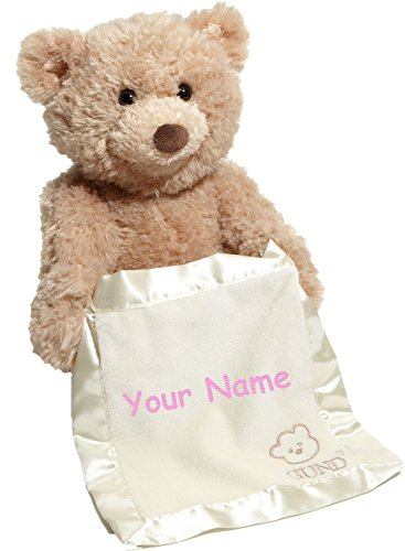 Personalized Animated Peek-A-Boo Teddy Bear Plush Stuffed Toy -