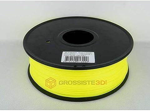 Filamento 3D Fluorescente Amarillo PLA 3.00 mm para Impresoras ...