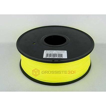 Filamento 3d fluorescente amarillo PLA 3.00 mm inalámbrico ...