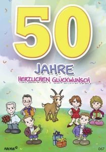 Geburtstagskarten 50 frau