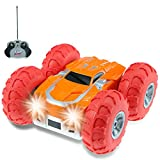 VGAzer Fast Remote Control Car for Kids Cyclone RC Cars with Bright LED Lights and Off Road RC Car Tires, Stunt RC Cars for Adults, Boys and Girls-Colors May Vary