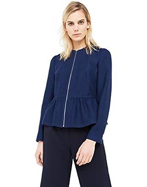 Mango Women's Peplum Cotton Jacket