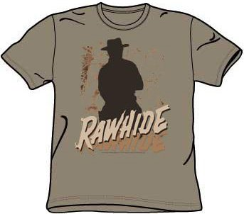A&E Designs RAWHIDE Classic TV Western Show Adult T-shirt, Large ()