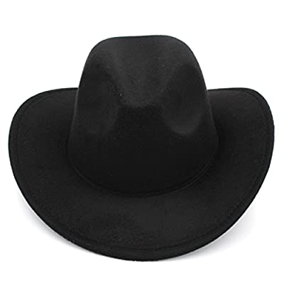 Elee Women Men Felt Cowboy Hat Wool Blend Western Cowgirl Cap