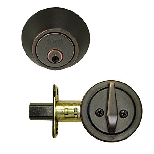Burton Harbor Single Cylinder Deadbolt Door Knob, Oil Rubbed Bronze