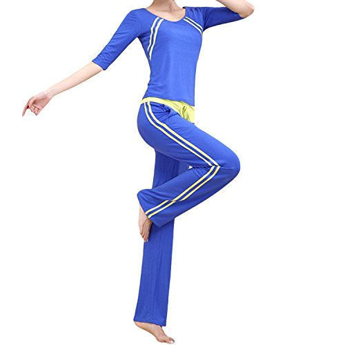 Forlisea-Womens-12-Sleeve-Modal-2-Pieces-Loose-Yoga-Sport-Tracksuit-Sweatsuit