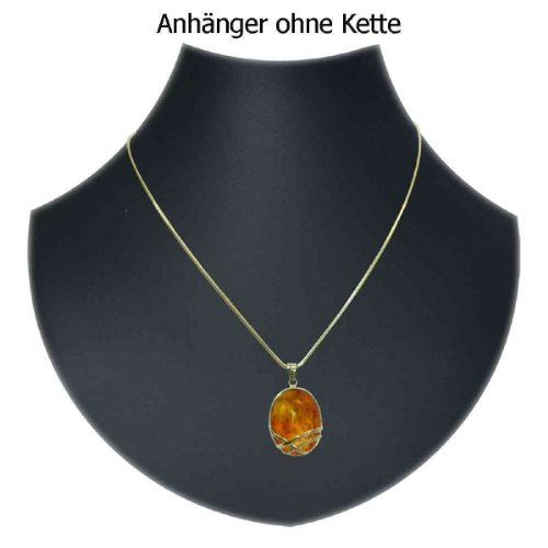 In Collections - 1000103170L100 - Pendentif Femme - Or jaune 333/1000 (8 cts) - ambre