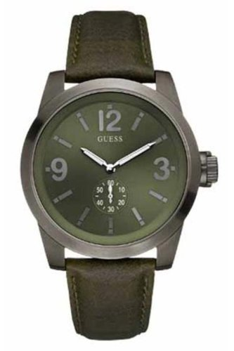Guess Men's Analogue Watch W12108G1 with Green Dial
