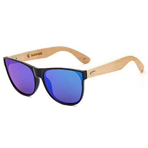 Retro Wooden Sunglasses Fashion Vintage Sunglass Bamboo Legs Mirror Wooden Shades for Travel Outdoors UV400 Protection Black Frame Green - Sunglasses Wholesale Wooden