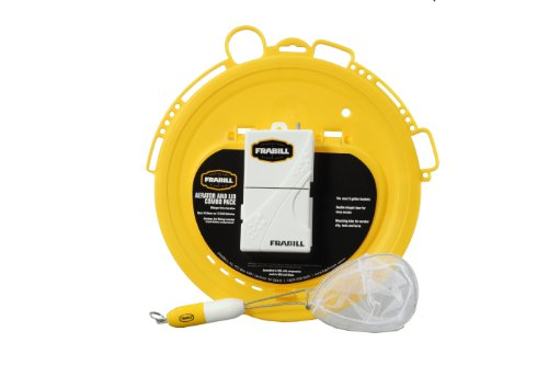 Frabill Deluxe Bait Lid with Aeration Combo Pack, Yellow/White, Outdoor Stuffs