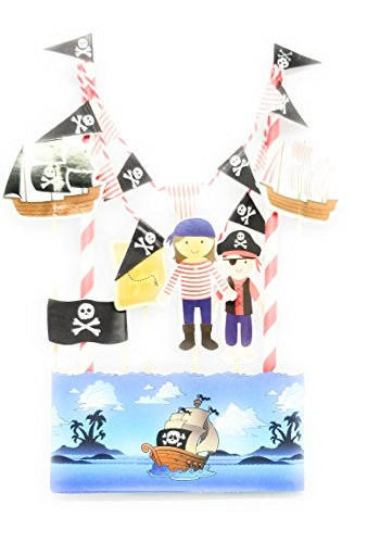 Pirate Boutique - Linara Boutique Birthday Cake Bunting Flag Topper (PIRATE)