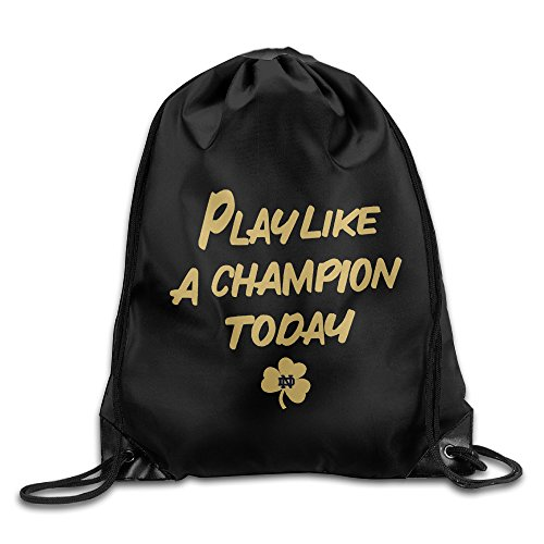 (Notre Dame Fighting Irish Play Like A Champion Drawstring Backpack Bag)