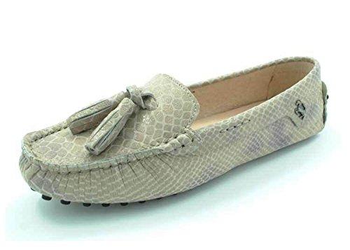 Minitoo - Sandalias con cuña mujer Khaki Snake-print