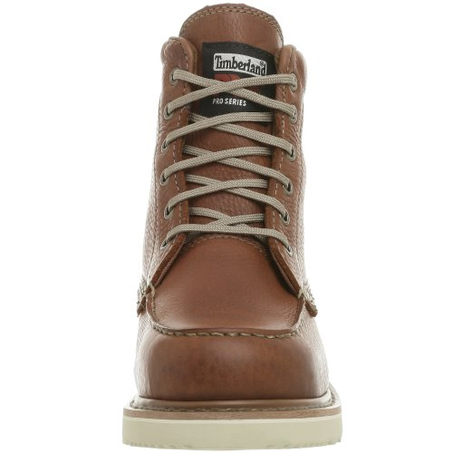 Timberland PRO Uomo 53009 Wedge Sole 6 Soft-Toe Boot,Rust,8 W