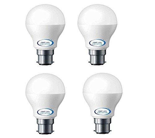 OMT LED 9W B22 LED Bulb (Pack of 4, White) Image