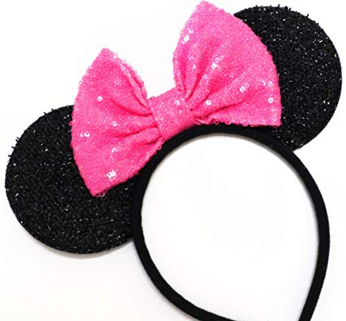 CLGIFT Pink Mickey Ears, Rainbow Minnie Mouse