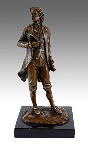 (Bronze Figure - Composer Frédéric Chopin - Signed Milo - Contemporary Art - Sculptures for)