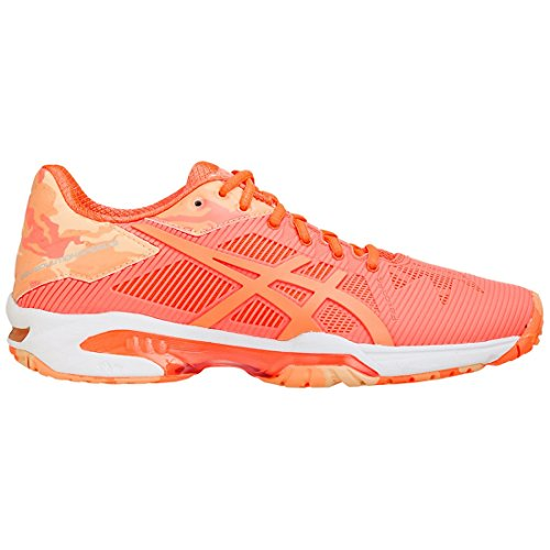 Asics Gel-Solution Speed 3 Limited Edition Womens Tennis Shoe Flash Coral/Canteloupe/Apricot Ice