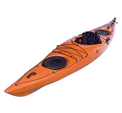 Riot Kayaks Edge 14.5 LV Flatwater Day Touring Kayak (Yellow/Orange, 14.5-Feet)