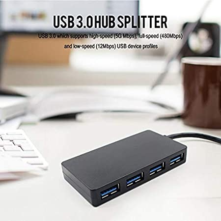 Cable Length Black Computer Cables hot-USB 3.0 Hub 4 Port High Speed Slim Compact Expansion Splitter