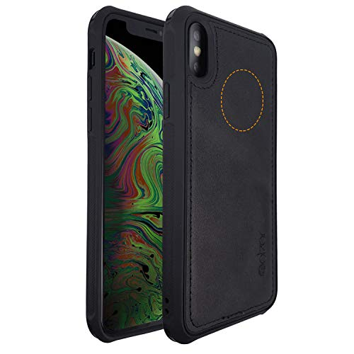 Apple Metal Plates - Molzar MAG Series iPhone Xs Max Case, Built-in Metal Plate for Magnetic Car Phone Holder, Support Qi Wireless Charging, Compatible with iPhone Xs Max, Black