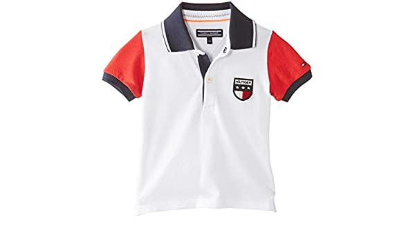 Tommy Hilfiger Bas Baby Boy Polo S/S, Niños, Weiß (Classic White ...