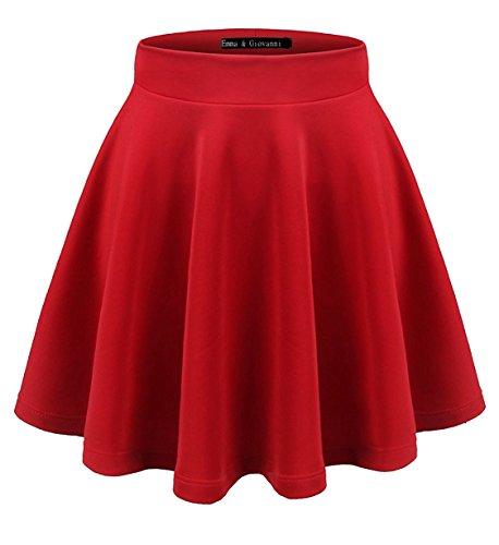Básica Emma Corto Giovanni Italy Plisada amp; Mini Elástica made Falda Rojo Mujer In argrHYwqW