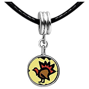 Chicforest Silver Plated Red Bat Monster Photo Peridot Crystal August Birthstone Flower dangle Charm Beads Fits Pandora Charm Bracelet