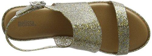 19 Donna Melissa Retro Glitter Sul gold Classy Chiusura Con Sandali Gold Bg5Ogxp