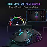 PICTEK RGB Gaming Mouse Wired, Ultra-Light