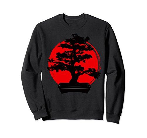 Unisex Japanese Bonsai Tree Garden Lover Sweatshirt Small Black by Japanese Bonsai Tree In A Pot Shirt