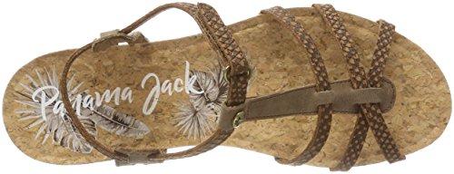 Panama Jack Women's Dori Snake Open Toe Sandals Brown (Cuero B7) hvhyYXVGC