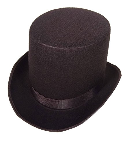 [16362 (Small,Black) Coachman Costume Top Hat] (Victorian Carolers Costumes)